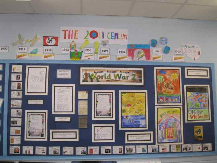 Class 4's World War II Display