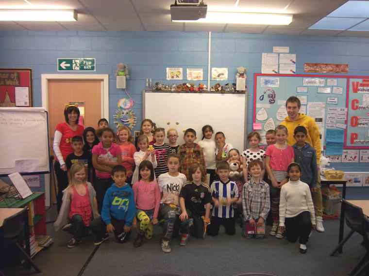 Class 4 non-uniform day for 'Children in Need'