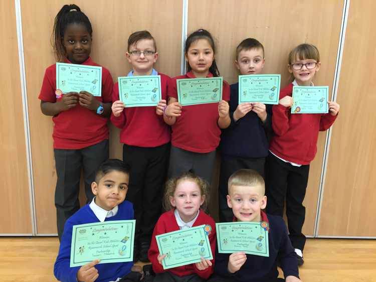Year Two Athletics Team are winners…