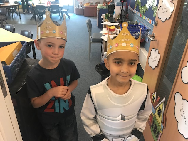 Children in Year 1 enjoyed a royal lunch.