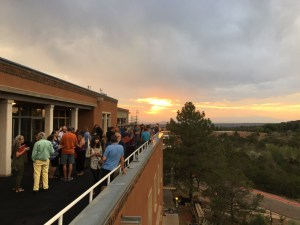 sunset on the Petersen roof-porch at Glen 2018