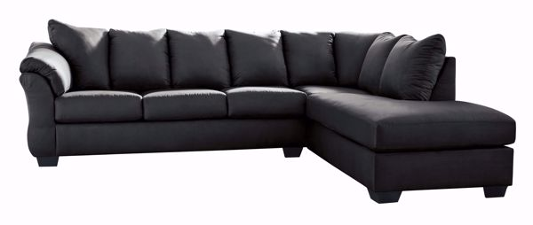 darcy black laf 2pc sectional
