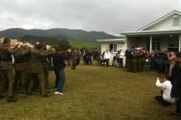 Corporal Hughes farewelled