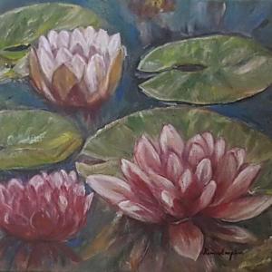 Fleur de lotus (Lotus flower) – acrylique