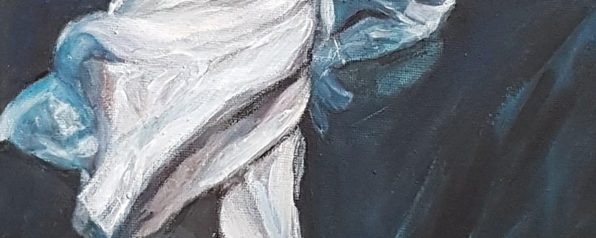 L'homme dans fluidité - acrylique, 25X30 cm (2020)