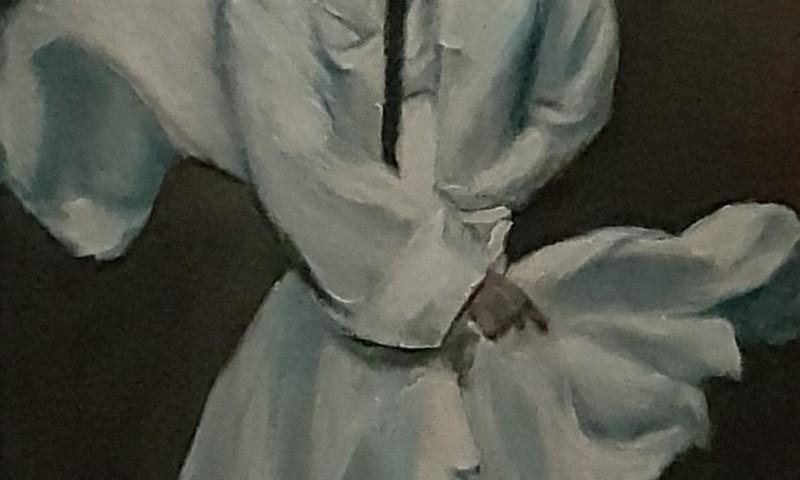 L'homme dans ses pensées … - acrylique,, 25X30 cm (2020)