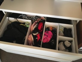 Drawer spacers help keep smaller items together (available at Ikea)