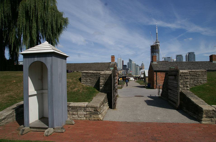 At Historic Fort York, red coated phantom soldiers reportedly patrol the grounds near the entrance and barracks.