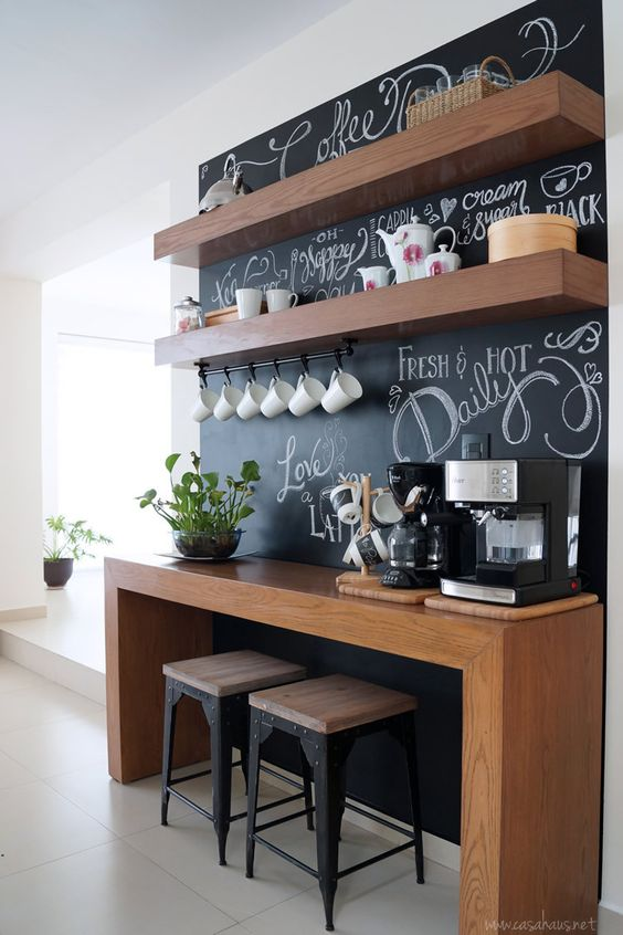 Baristas instead of bars. Save money, paper cups, and plastic lids with home coffee stations.