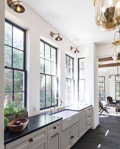 Big windows and lots of natural light