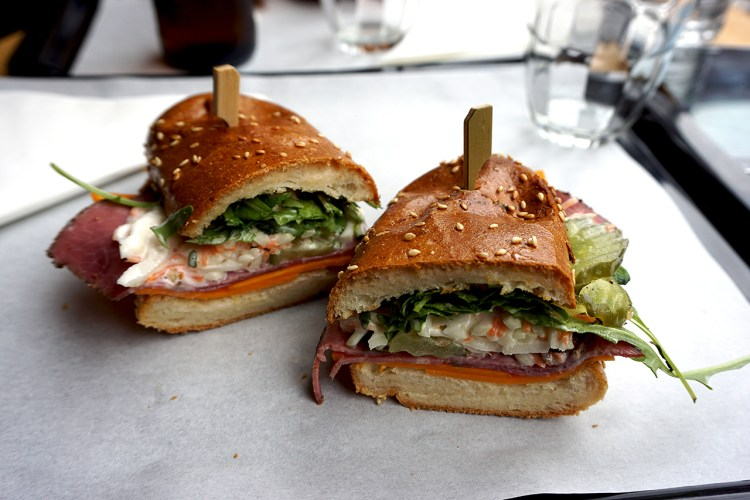 Gluten free pastrami sandwich from Bears and Raccoons in Paris, France