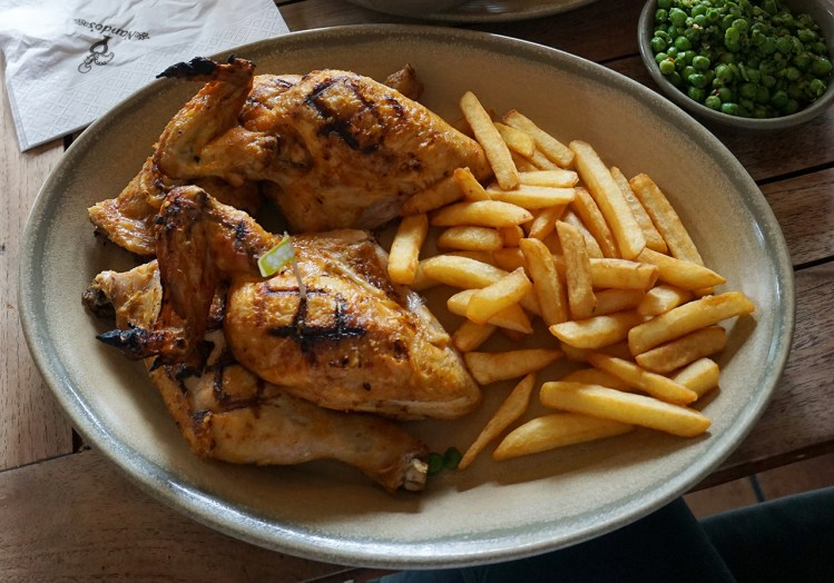 Gluten free lemon and herbs chicken and chips from Nando's - gluten free Nando's