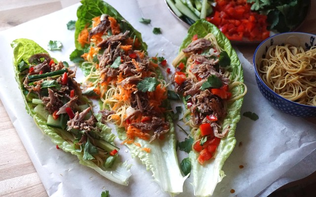 Chinese Crispy Duck Lettuce Wraps {GLUTEN FREE}