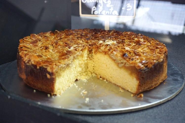 Gluten free orange polenta cake from Brother Wolf in Nag's head market in Holloway - Holloway gluten free cafe