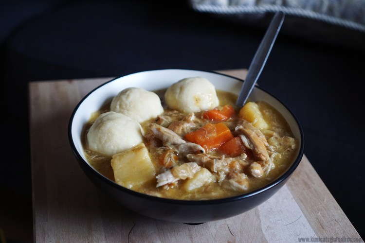 Healthy lemongrass chicken stew with gluten free fufu dumplings