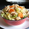 Bowl of delicious and easy Vietnamese rice noodle salad recipe