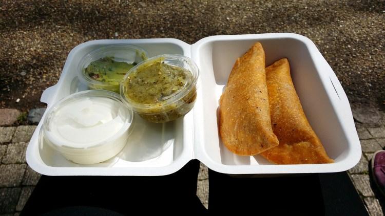 Gluten free empanadas from Amigos - gluten free friendly Mexican takeaway restaurant in Holloway, North London