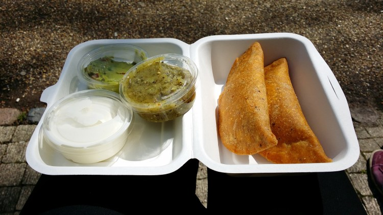 Gluten free empanadas from Amigos - gluten free friendly Mexican takeaway restaurant in Holloway, North London