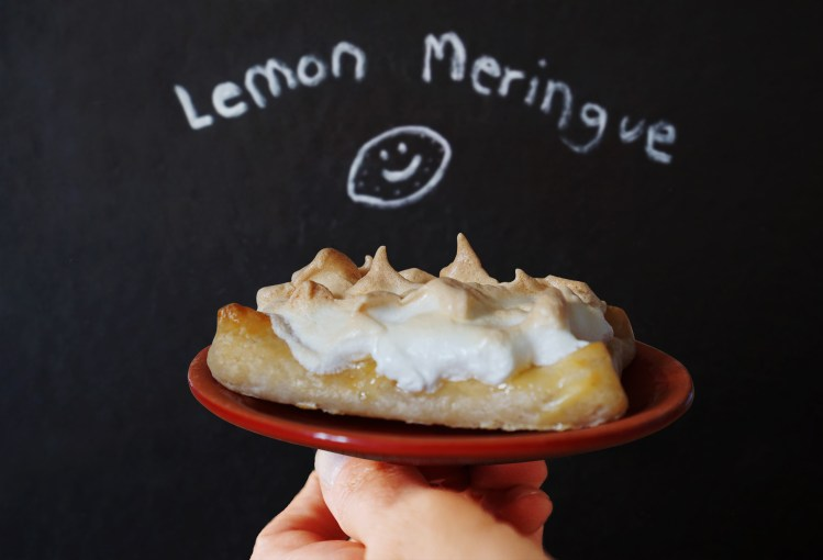 Easy gluten free lemon meringue pastry slices made using Jus-Rol gluten free puff pastry, Tiptree lemon curd and homemade fresh meringue | gluten free baking | gluten free recipes