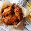 Homemade gluten free fried buffalo wings and fries | Takeaway style | Made with Frank's RedHot Buffalo Wing Sauce