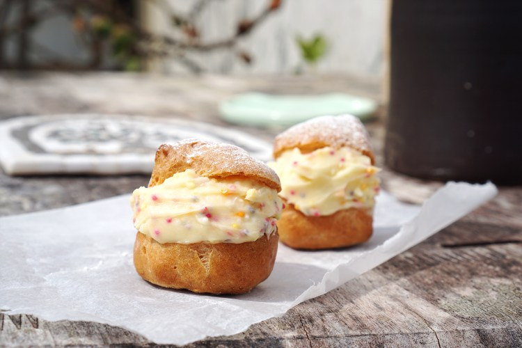 Gluten and dairy free choux pastry for profiteroles, cream puffs, eclairs, churros, etc.