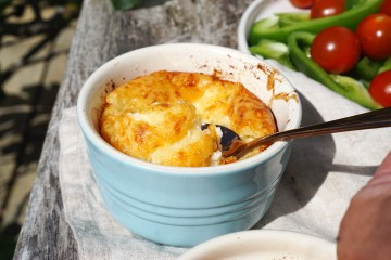 Gluten free cheese pudding made with extra mature cheddar / Welsh cheese pudding
