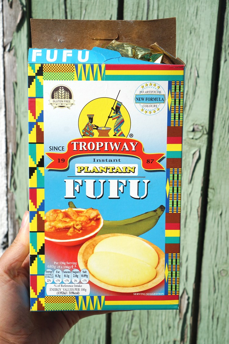 Box of fufu flour mix / Plantain, potato and cassava / Grain free