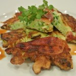 Courgette Okonomi-yaki with bacon