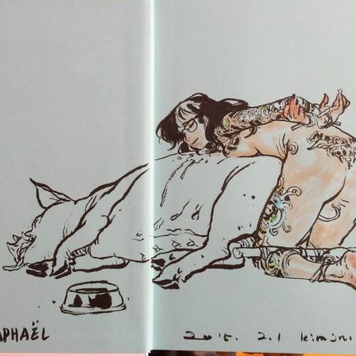 001 - Kim Jung Gi sketch dédicace