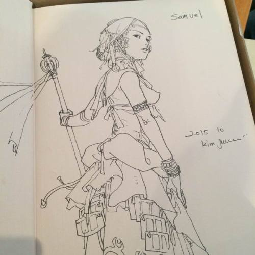 026 - Kim Jung Gi sketch dédicace