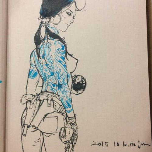 057 - Kim Jung Gi sketch dédicace