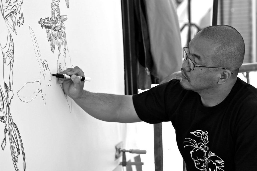 Kim Jung Gi drawing show