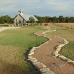 Path leading to Gruene Estate chapel.