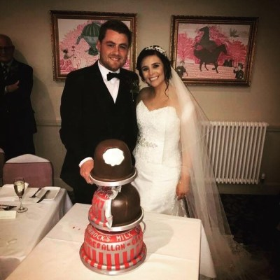 Tunnocks tea cake wedding cake