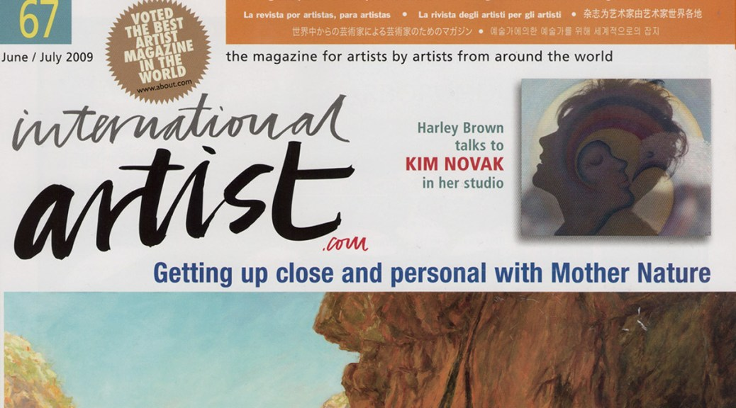 Meet Kim Novak by Harley Brown,International Artist Cover Featuring Article about Kim Novak and her art, June/July 2009 issue