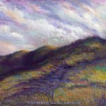 limited edition prints by Kim Novak - Finding the Way Back Home, Original landscape painting in pastel over watercolor by Kim Novak. Copyright 2014 Kim Novak. All rights reserved.