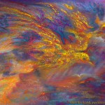limited edition prints by Kim Novak - In the Canyons of My Mind: Original Painting of a dreamscape in pastel over watercolor in intense, vibrant colors by Kim Novak. Copyright 2014