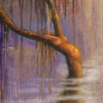 limited edition prints by Kim Novak - Once Upon A Time: Original Painting of a tree woman in pastel over watercolor by Kim Novak. Copyright 2014 Kim Novak. All rights reserved.