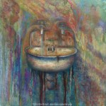 limited edition prints by Kim Novak - Getting Clean, original painting by Kim Novak. Copyright 2014, all rights reserved.