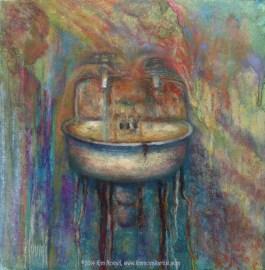Getting Clean, Original Painting by Kim Novak
