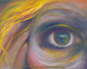 In My Looking Glass, painting by Kim Novak