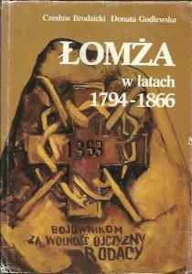 Okładka książki Łomża w latach 1794-1866 Brodzicki Godlewska PWN Warszawa 1987