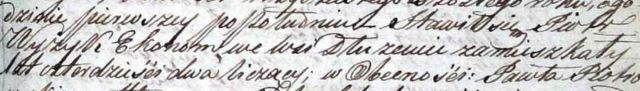 Część aktu z przekręconym nazwiskiem Wyżyk - tej wersji nazwiska też muszę szukać w Genetece