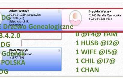GEDCOM – plik opisujący drzewo genealogiczne
