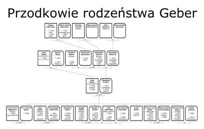 Drzewo genealogiczne rodziny Geber