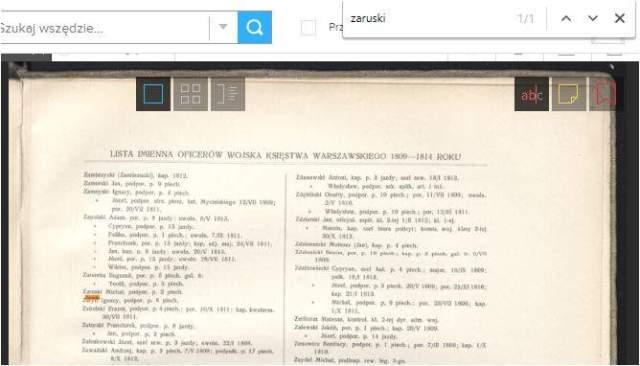 Polona - cyfrowa część Biblioteki Narodowej wyszukiwanie na stronie
