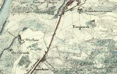 Wzloty i upadki warszawskiej rodziny Arens - Grochów na mapie z 1819