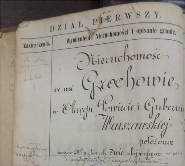 Księgi wieczyste Warszawy dział pierwszy