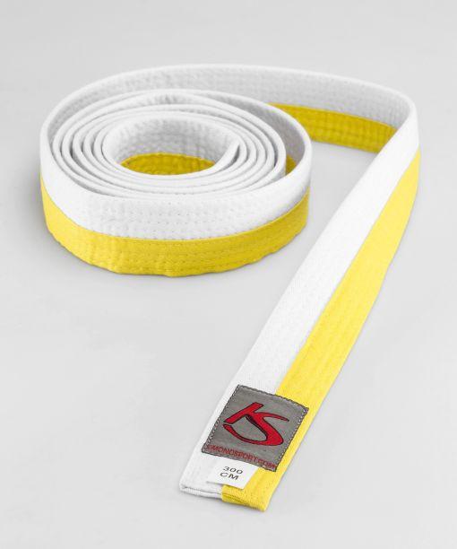 cinturón blanco - amarillo para artes marciales apto para la competición
