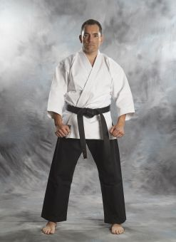 KARATE GI, TOKAIDO BUJIN SHIRO-KURO, 14 OZ., BLACK 1